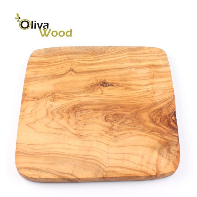オリーバウッド OlivaWood(オリーブウッド)オリーブの木 まな板 一枚板カッティングボード正方形 スタンダー 20×20×1 #SQ2020S