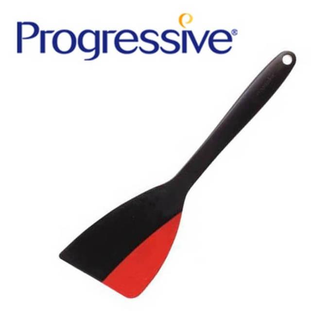 プログレッシブ Progressive デュアルスパチュラ フライ返し 大 (シリコン&ナイロンターナー) PATENTED【ハンドクリーナー】【動画】【特価品】