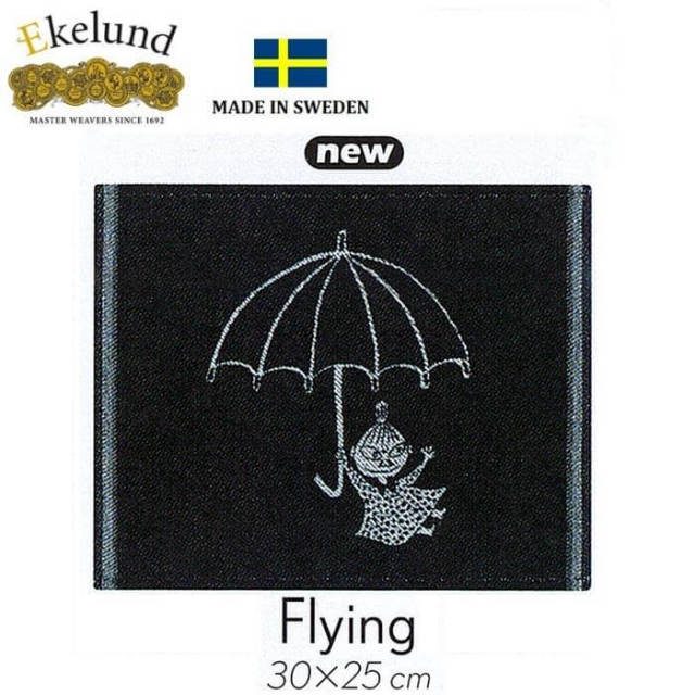 エーケルンド Ekelund ムーミンシリーズ Moomin FLYING (ミィ,傘) 30×25cm 【ディッシュクロス/キッチンクロス/北欧/オーガニックコットン】 #41648