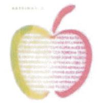 【在庫処分セール】カティナット KATTINATT スポンジワイプ・キッチンワイプ(ディッシュクロス 北欧) アップル・テキスト(レインボー)