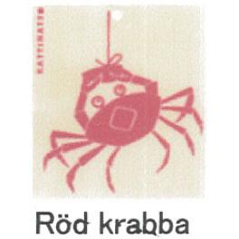 【在庫処分セール】カティナット KATTINATT スポンジワイプ・キッチンワイプ(ディッシュクロス 北欧) カニ(赤)Rod krabba