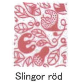 【完売】【在庫処分セール】カティナット KATTINATT スポンジワイプ・キッチンワイプ(ディッシュクロス 北欧) つた(赤)slingor rod