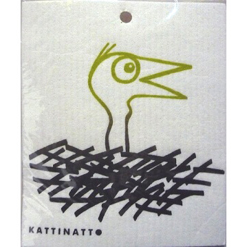 【完売】【在庫処分セール】カティナット KATTINATT スポンジワイプ・キッチンワイプ(ディッシュクロス 北欧) 鳥の巣