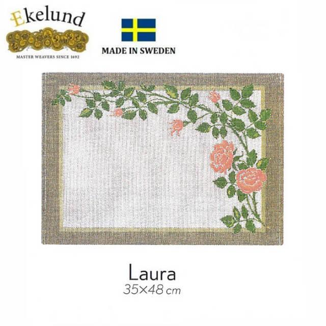 エーケルンド Ekelund LAURA (薔薇) 35×48cm 【ランチョンマット/テーブルマット/北欧/オーガニックコットン】 #35142