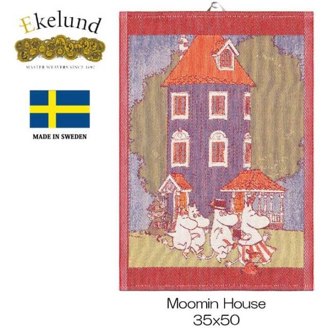 ★再入荷★エーケルンド Ekelund ムーミンシリーズ Moomin MOOMIN HOUSE (ムーミンハウス) 35×50cm 【キッチンタオル/タペストリー/北欧/オーガニックコットン】 #32493