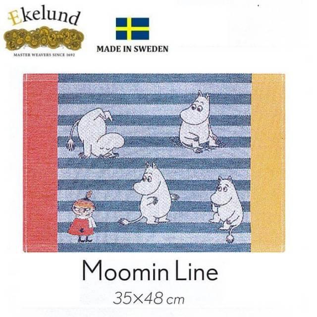 エーケルンド Ekelund ムーミンシリーズ Moomin MOOMIN LINE (ムーミン,リトルミィ) 35×48cm 【ランチョンマット/北欧/オーガニックコットン】 #31915