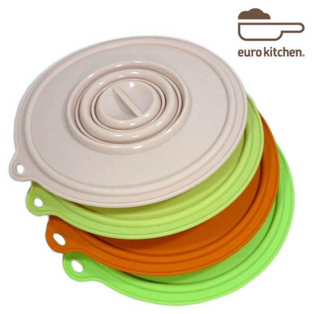 ユーロキッチン eurokitchen シリコンカバー 大 (鍋蓋 落とし蓋 シリコン蓋 ビンオープナー)