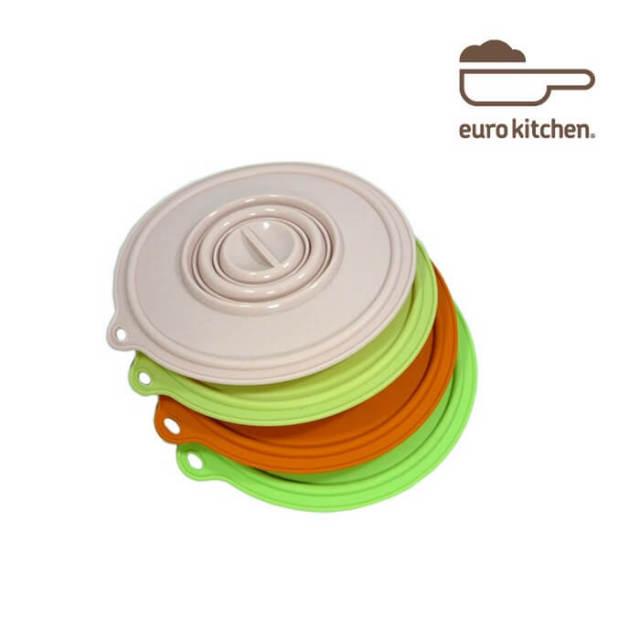 ユーロキッチン eurokitchen シリコンカバー 小 (鍋蓋 落とし蓋 シリコン蓋 ビンオープナー)