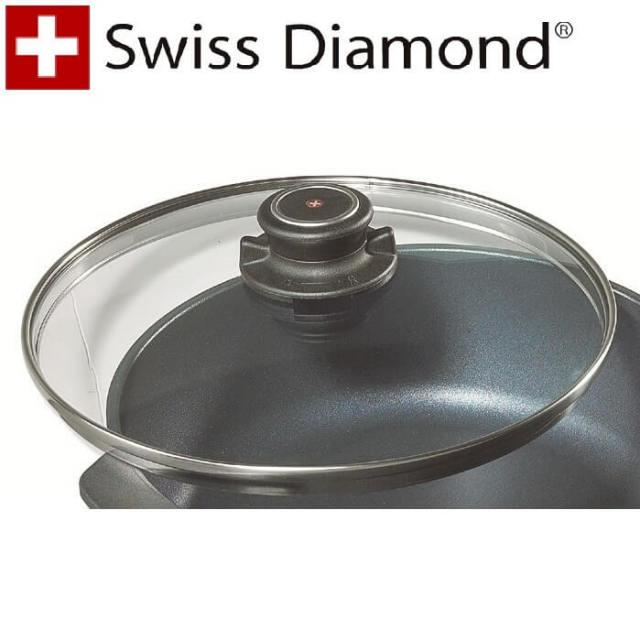 スイスダイヤモンド SwissDiamond ガラス蓋24cm【アウトレット・訳あり特価品】