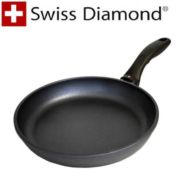 【完売】スイスダイヤモンド SwissDiamond #6424浅型フライパン24cm【送料無料】【アウトレット・訳あり特価品】