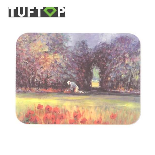 タフトップ TUFTOP ガラスまな板 『カントリー』 中【約30×40cm】【四角】ガーデナー