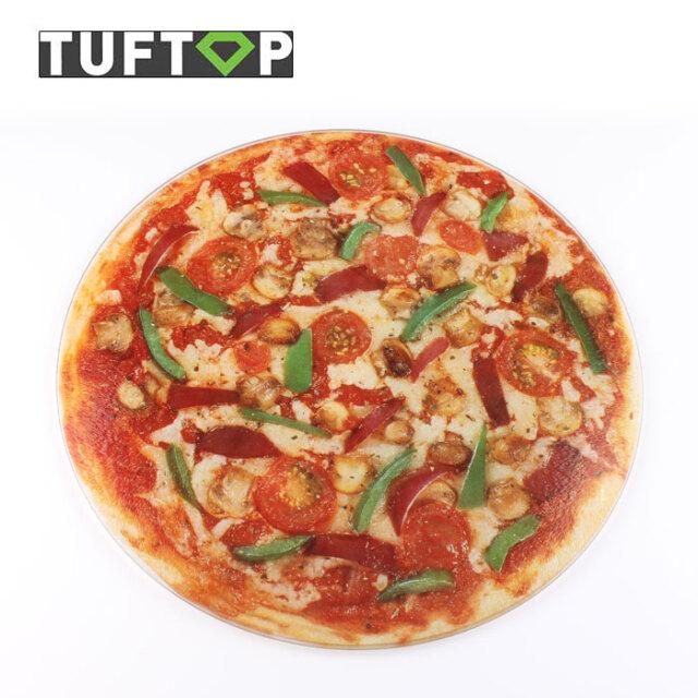 タフトップ ガラスまな板 ピザ 円形