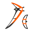 MIK04983 Fin set LOGO 480 black/neon-orange