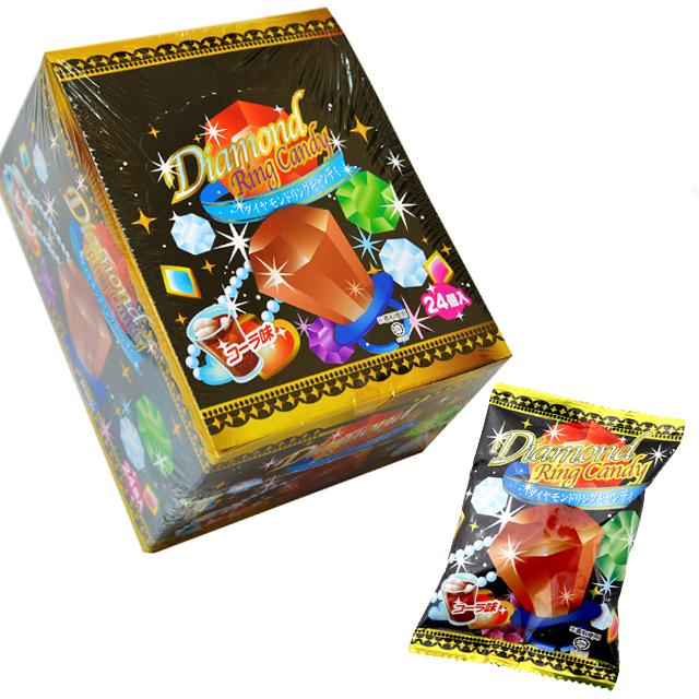 ame-80yao 【コーラ味】ダイヤモンドリングキャンディー 24個入【駄菓子】