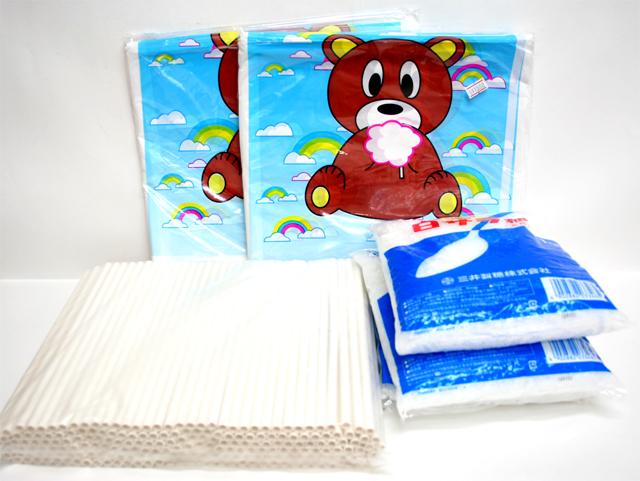 bm-218 綿菓子材料セット【わたがし材料セット】 (白)200人用