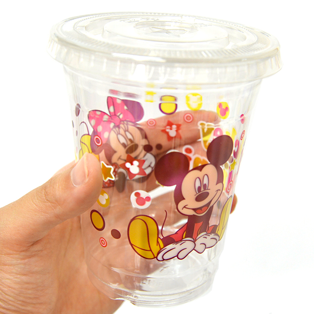 bn-049stop 【10入】ミッキーミニーPETカップ蓋付