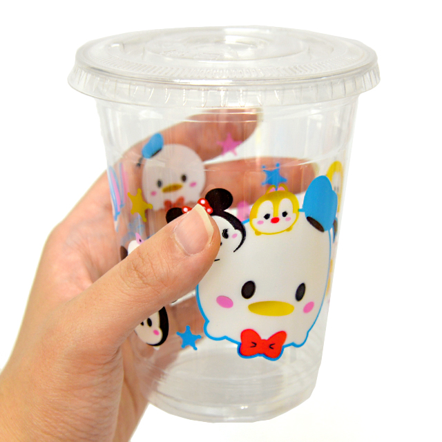 bn-050top ディズニーツムツムかわいいPETカップ蓋付 50入
