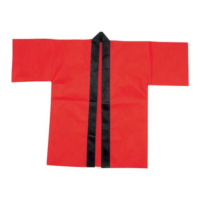 bt-223sim 【赤】 カラー不織布ハッピ 帯付 【大人用L/はっぴ半被はんてん半纏袢纏ジャンル】