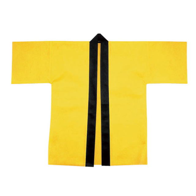 bt-223simy 【黄】 カラー不織布ハッピ 帯付 【大人用L/はっぴ半被はんてん半纏袢纏ジャンル】