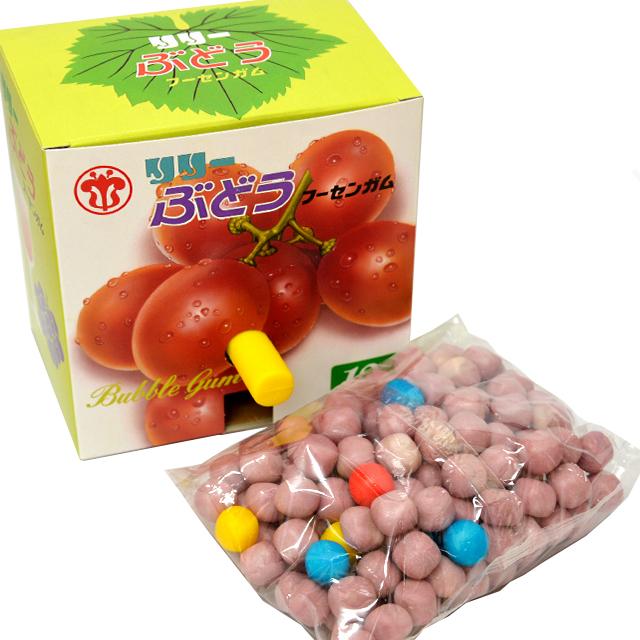 gam-23bu ぶどう玉出しフーセンガム 10円 120付【玉出しガム/駄菓子】
