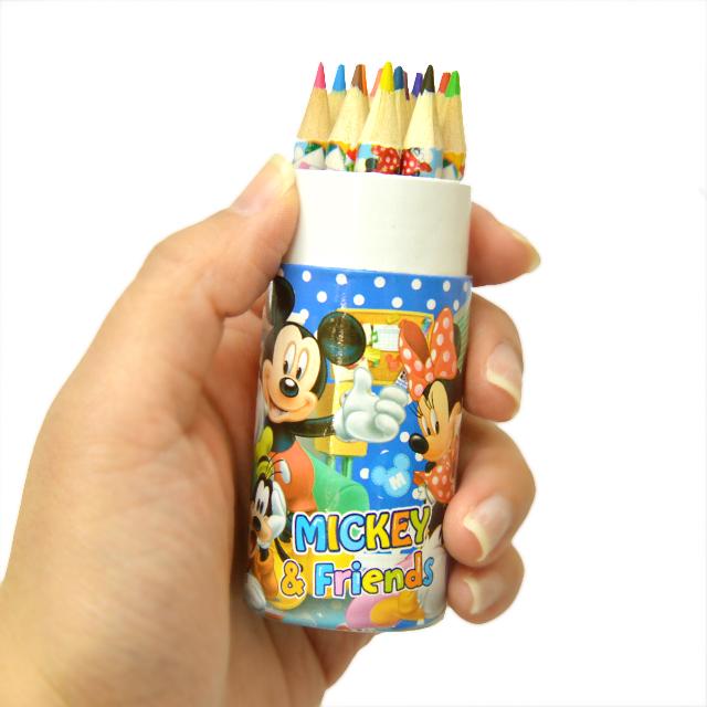 gg-283top ディズニー円筒ケース入12色鉛筆 16入