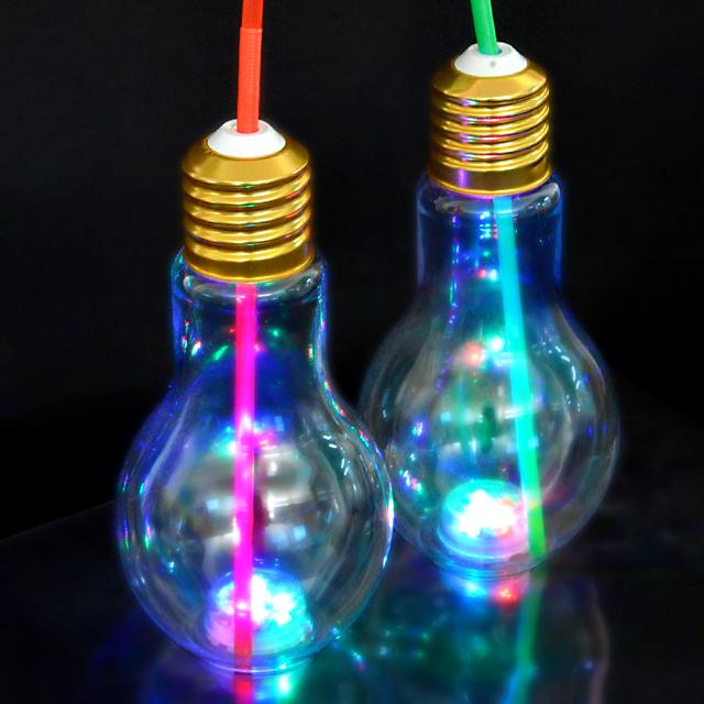 gld-042btow 【50入】LED光る電球ボトル約500ml(電球ソーダ用ボトル 光る容器) 50入