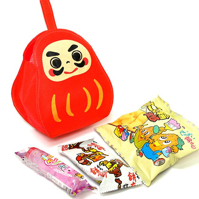 kta-081 ラッピング袋入りお菓子詰め合わせ だるま 1個