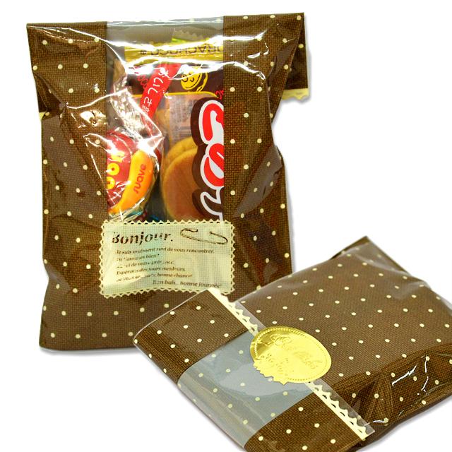 kta-082b 【Eタイプ】お菓子詰め合わせ(ブラウン単色)  1個 (取合せ/詰め合せ/詰合せ)