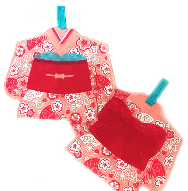 2s-rap049 ラッピング袋 晴れ姿 桜ふわり 1個