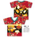 bn-052gmas ジャパニーズTシャツ 着物C 赤 1枚