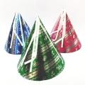 ch-064 ホイル三角帽子【大人・子供兼用サイズ】(トンガリ帽子・とんがり帽子】 1個