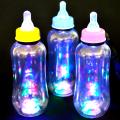 gld-072top 【限定】光る哺乳瓶ボトル ストラップ付 12個入(電球ボトル類似品 光る容器)