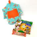 kta-058 ラッピング袋入りお菓子詰め合わせ 浴衣(金魚柄) 1個