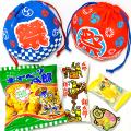 kta-086 ラッピング袋入りお菓子詰め合わせ お祭りミニ巾着 1個