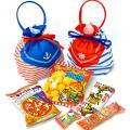 kta-087 ラッピング袋入りお菓子詰め合わせ サマーリボンバッグ 1個