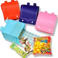 kta-091 【チェック柄】ラッピング袋入りお菓子詰め合わせ ランドセルバッグ 1個 (取合せ/詰め合せ/詰合せ)