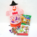 kta-070 【ハロウィンパペット(白)】ラッピング袋入りお菓子詰め合わせ 1個