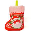 2s-rap027a ラッピング袋 クリスマス靴下(くつした)【ニット柄】 1袋