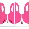 2s-rap031f かわいい耳付き袋(大) うさぎツートン(ピンク) 50枚入