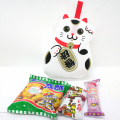 kta-065 ラッピング袋入りお菓子詰め合わせ 招き猫 1個 (取合せ/詰め合せ/詰合せ)