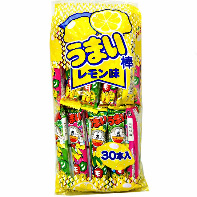 sun-01re うまい棒 レモン味 10円 30入【駄菓子】