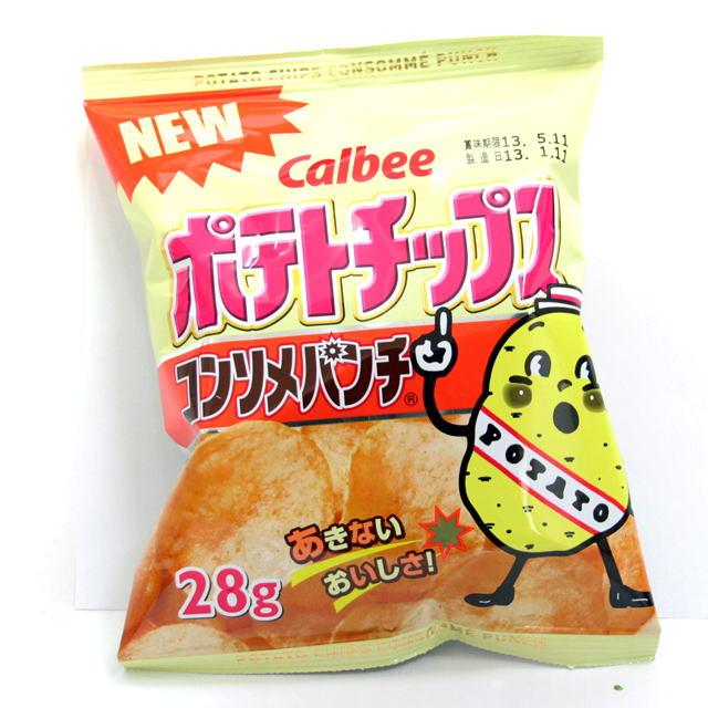 sun-15 ポテトチップス コンソメ 24入【駄菓子】