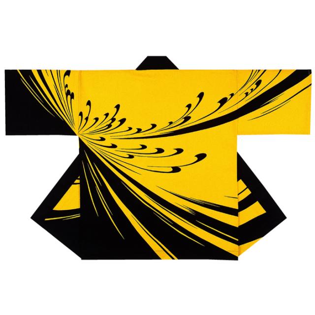 半纏(はんてん・法被・はっぴ) 地色黄色