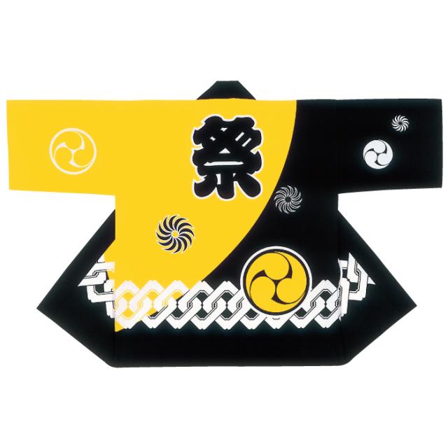 半纏(はんてん・法被・はっぴ) 黄色 紋