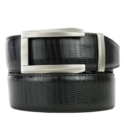 Lizard Black Premium Dress Belt 2.0 ラチェット式ベルト