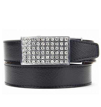 Sleek Crystal Black ラチェット式ベルト