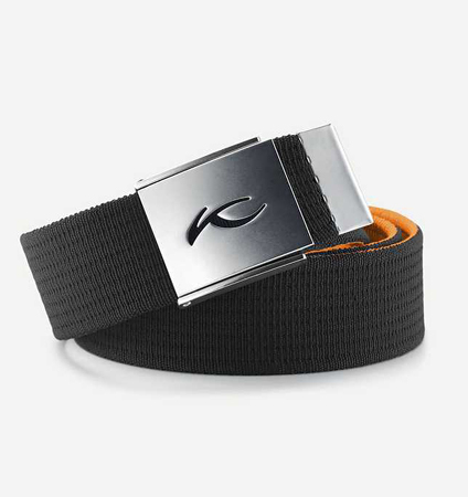 KJUS  UNISEX SQUARE WEBBING BELT Black