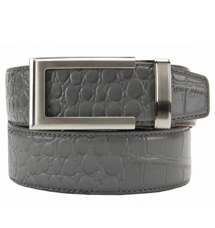 Alligator Grey Premium Dress Belt ラチェット式ベルト