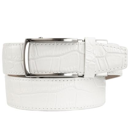 Alligator White Premium Dress Belt 2.0 ラチェット式ベルト