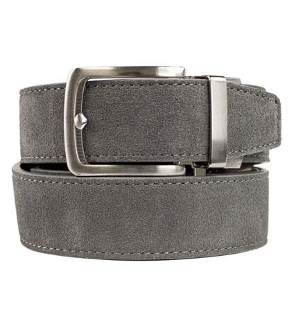 Suede Grey ラチェット式ベルト